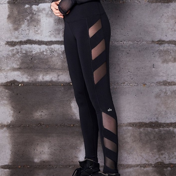 e3dba2e22f ALO Yoga Pants | Block High Waist Mesh Insert Leggings S | Poshmark